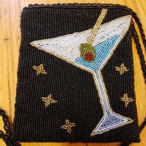 Handbags - Vintage Ladies Martini Beaded Bag